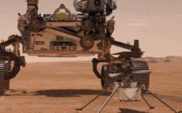 """Sau """"7 phút kinh hoàng"""", siêu tàu thăm dò 2,4 tỷ USD hạ cánh xuống sao Hỏa, lần đầu tiên con người mang trực thăng tới hành tinh khác"""