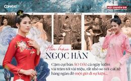 Hoa hậu Ngọc Hân: Cặm cụi bán áo dài cả ngày kiếm vài trăm tới vài triệu, rất nhỏ so với cát-xê hàng ngàn đô một giờ đi sự kiện…