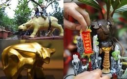 Muôn kiểu chơi linh vật Tết Tân Sửu: Từ trâu dát vàng đến trâu cõng quất, dừa, giá vài trăm đến bạc triệu
