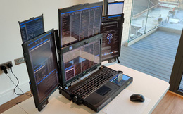 Cận cảnh laptop đầu tiên trên thế giới với... 7 màn hình: Cấu hình siêu khủng, nặng 12Kg, người mua không được tiết lộ giá bán