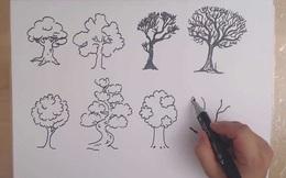 Đặt bút vẽ một chiếc cây, mỗi người cho ra một tác phẩm riêng: Bạn có biết tác phẩm của người hướng nội khác người hướng ngoại ở điểm nào không?
