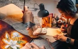 """Bỏ công việc thiết kế, cô gái Hà Nội bắt đầu sự nghiệp điêu khắc """"kỳ lạ"""" từ... miếng da vụn được cho"""