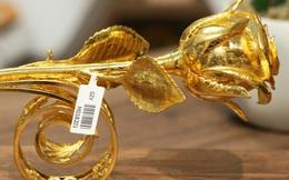 Cận cảnh hoa hồng đúc vàng giá 330 triệu đồng được đại gia Hải Phòng mua làm quà tặng ngày 8/3