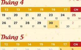 Giỗ Tổ Hùng Vương và dịp lễ 30/4, 1/5 được nghỉ mấy ngày?