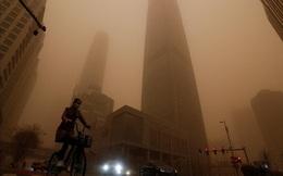 Bão cát bủa vây, thủ đô Bắc Kinh (Trung Quốc) ô nhiễm nghiêm trọng