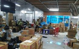 """Triệt phá kho hàng """"pha ke"""" rộng 1.000 mét vuông lớn nhất Ninh Bình, ngày chốt 1.000 đơn qua livestream"""