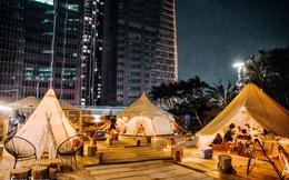 """Siêu Hot: Glamping - Cắm trại xa xỉ trên nóc tòa nhà cao nhất nhì Hà Nội, một khung cảnh """"cam kết"""" đẹp hơn cả trên phim với loạt trải nghiệm siêu thú vị cho cả gia đình"""