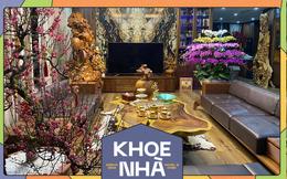 """Nhà phố 450m2 của vợ chồng Hà Nội khiến dân tình loá mắt vì như """"biệt phủ"""" gỗ, có món nặng đến mức 25 người khiêng"""