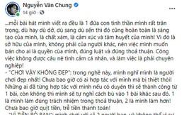 """NS Nguyễn Văn Chung đăng tâm thư giữa """"bão"""" Nathan Lee - Cao Thái Sơn, đáp trả thế nào khi bị nói """"vì tiền bỏ bạn, toàn bài cũ rích""""?"""