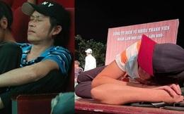 Hình ảnh Hoài Linh mệt mỏi đến mức nằm vật trên sân khấu trong khoảng thời gian giấu việc phẫu thuật K tuyến giáp bị đào lại