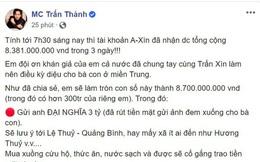 Điểm bất thường: Không lẽ 6 tháng trước, Trấn Thành không báo cho Thủy Tiên đã chuyển 4,3 tỷ đồng từ thiện?
