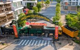 Ảnh: Dàn xe ben trọng tải lớn, chồng gạch, đặt ống cống để chốt chặn nhiều điểm cách ly ở Bắc Ninh