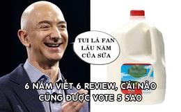 Là tỷ phú số 1 thế giới nhưng Jeff Bezos chỉ xếp thứ 78,9 triệu trong mục review sản phẩm 'dạo' của Amazon