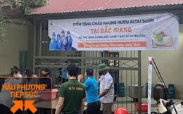 Một công ty bán nhung hươu nhập khẩu nấu 7.500 suất cháo nhung hươu tiếp sức cho 2.000 y bác sĩ tại 7 bệnh viện ở Bắc Giang