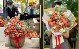 Tưởng đùa hóa ra bán thật: Vải thiều kết thành bó hoa, giá cả triệu đồng, phải đặt trước mới có