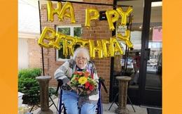 Cụ bà mừng sinh nhật 100 tuổi sau khi đánh bại virus Corona