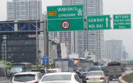 Cấm xe tại 1/2 chiều đường Vành đai 3 trên cao từ hôm nay đến 20/6