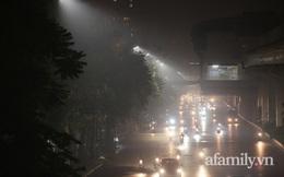 """Nửa đêm, bầu trời Hà Nội """"sương khói mờ nhân ảnh"""", chỉ số AQI cao nhất thế giới"""