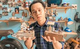 """Chàng trai 27 tuổi chinh phục gần hết 63 tỉnh/thành, lấy cảm hứng du lịch để """"xây nhà"""" từ gỗ vụn"""