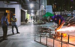 Toàn cảnh bên trong Thuận Kiều Plaza đang thi công chuyển đổi thành bệnh viện dã chiến 1.000 giường bệnh