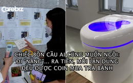 Bồn cầu trong mơ: Biến chất thải thành điện và tiền số, người dùng có thể lấy tiền mua cà phê, sách, trà bánh