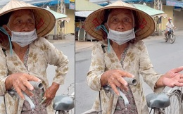 Xót xa cụ bà nhận được cứu trợ giữa mùa dịch nghẹn ngào tiết lộ: 'Nãy xin 3kg gạo mà họ làm bà mắc cỡ quá'