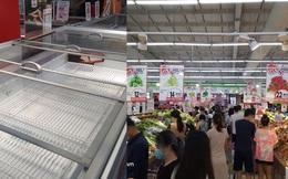 """Ngay lúc này ở Hà Nội: Siêu thị đông kín khách đến tối muộn, thịt cá và rau xanh """"cháy hàng"""" sau công điện của thành phố"""