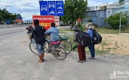 Gia đình 4 người Nghệ An đạp xe từ Đồng Nai về quê tránh dịch