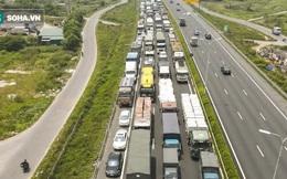 Kiểm soát 100% người và phương tiện vào Hà Nội, xe ùn tắc gần 3km tại trạm thu phí Pháp Vân - Cầu Giẽ