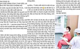 """Phó GĐ BV Xanh Pôn lên tiếng vụ người phụ nữ khoe được tiêm vaccine Covid-19 nhờ quen """"người anh"""""""