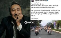 Một nghệ sĩ Việt bức xúc trước 'đề xuất' CSGT làm thay việc shipper của đạo diễn Nguyễn Quang Dũng: 'Không chia sẻ được thì bớt ý kiến, vui thôi đừng vui quá!'