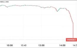"""""""Rơi tự do"""" cuối phiên, VN-Index mất 56 điểm trong ngày thứ hai hệ thống mới đi vào hoạt động"""