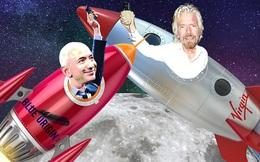 Cuộc đối đầu của giới siêu giàu: Tỷ phú Richard Branson muốn vượt mặt Jeff Bezos trong cuộc đua không gian