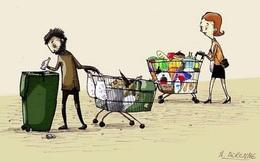 """Nhìn từ thùng rác của người giàu và người nghèo mới thấy: Người có tiền lại càng thêm giàu, người nghèo mãi chỉ lo """"ăn no mặc ấm"""""""