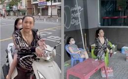 """""""Chị đại quận 4"""" từng trả treo với CSGT tiếp tục bị chỉ trích khi không đeo khẩu trang, dắt con gái đi trên phố"""