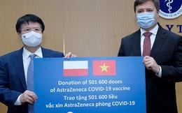 Bộ Y tế nhận hơn 500.000 liều vaccine AstraZeneca do Ba Lan tặng