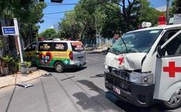 Xe cấp cứu tông xe cứu thương, F0 tử vong, điều dưỡng bị thương