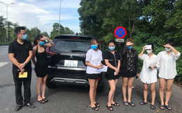 Hà Nội: Phát hiện 6 cô gái trên xe ô tô 7 chỗ dùng giấy đi đường giả