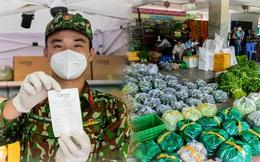"""Cận cảnh một buổi """"đi chợ hộ"""" của bộ đội, giáo viên... tại các siêu thị dã chiến ở TP.HCM trong thời gian siết chặt giãn cách"""
