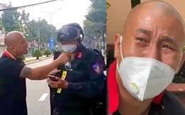 """Clip thanh niên lái Mercedes khóc như mưa khi bị bắt giữ vì """"thông chốt"""", doạ giết chiến sĩ CSCĐ"""
