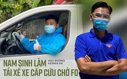 """Nam sinh tình nguyện làm tài xế cấp cứu chở F0, có ngày chở cả trăm ca: """"Lái xe thì dễ nhưng lái xe cấp cứu lại là 1 chuyện khác!"""""""