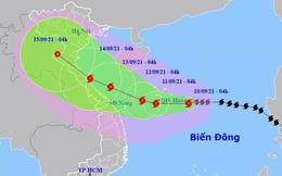 Bão Côn Sơn liên tục tăng cấp và mạnh thêm, có thể hướng về miền Trung