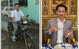 """""""Ông trùm kim hoàn"""" Johnny Đặng khoe ảnh thuở hàn vi chạy xe ôm ở Việt Nam?"""