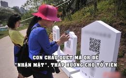 Tưởng nhớ 'xanh': Con cháu quét mã QR để 'nhận mặt', thắp hương và dâng hoa online cho tổ tiên
