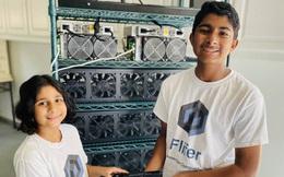 Hai anh em 14 và 9 tuổi này kiếm được hơn 30.000 USD mỗi tháng nhờ khai thác tiền điện tử