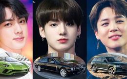 Chiêm ngưỡng bộ sưu tập xe của các thành viên BTS: Những triệu phú đô-la sắm gì khi tuổi đời còn chưa tới 30