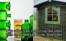 Heineken từng sản xuất chai hình chữ nhật để xây nhà, cần uống hết 1.000 chai mới được ngôi nhà gần 10 m2