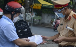 Dự kiến quy trình chi tiết cấp giấy đi đường mới của Công an Hà Nội