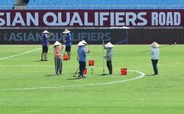 Mặt cỏ sân Mỹ Đình được chăm sóc kĩ trước trận Việt Nam gặp Australia