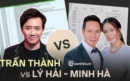 Sao kê cùng ngân hàng: Lý Hải - Minh Hà được dân tình khen rõ ràng, Trấn Thành vẫn còn điểm nghi vấn